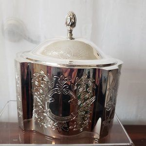 Vintage Silver Plated Jewelry Box Trinket Box NWT